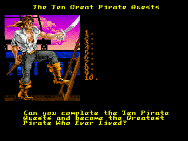 Pirates! Gold - Introduction  - The Ten Great Pirate Quests - User Screenshot
